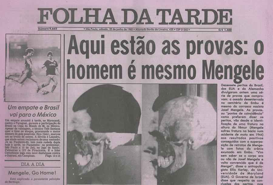 Nueva publicación: La calavera de Mengele. El advenimiento de una estética forense
